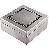Gem - Crystal Detail Trinket / Storage Box - Dark Silver