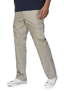 F&F Loose Fit Cargo Trousers - Sand
