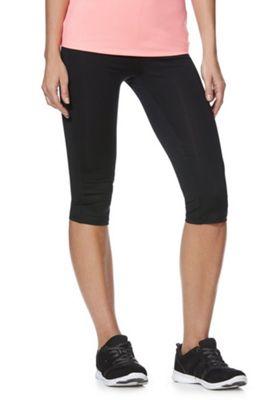 F&F Active Quick Dry Capri Leggings Black L