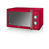 Swan 900W Manual Microwave - Red