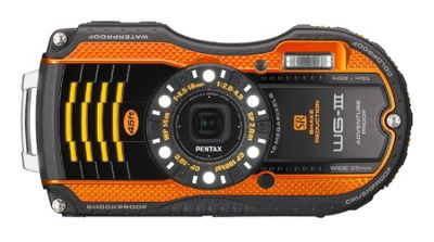 Pentax Optio WG-3 Camera Orange 16MP 4xZoom 3.0LCD Wtprf
