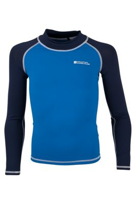Mountain Warehouse Kids Long Sleeved Rash Vest - UV Protection with Quick Drying