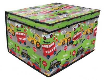 Country Club Jumbo Storage Chest, Roadworks, 50 x 40 x 30cm