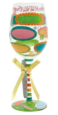 Lolita Personalise It Wine Glass - Hostess With The Mostest