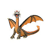 Fantasy - Orange Sitting Dragon Figurine - 4,3 - Bullyland