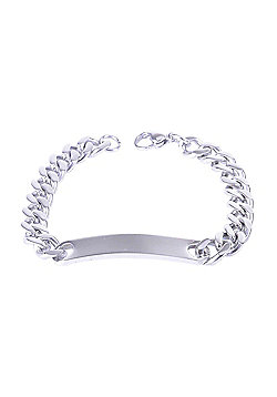 Urban Male Solid Stainless Steel 9mm Curb Link Chain ID Bracelet