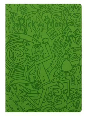 Rick and Morty Portal Dash Flexi Cover A5 Notebook, Green