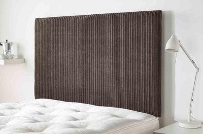 Aspire Furniture Lightmoor Headboard in Loumaire Corded Fabric - Chocolate - Single 3ft