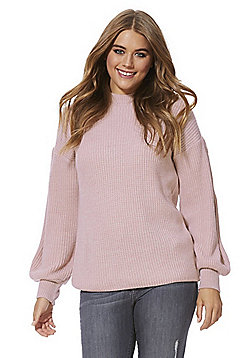 F&F Balloon Sleeve Jumper - Pink