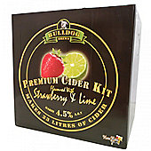Bulldog 'Premium Cider' (ABV 4.5%) 40 Pint Strawberry And Lime Cider Kit