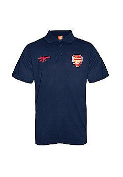 Arsenal FC Mens Polo Shirt - Blue