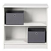 KIDSWORLD Low Bookcase White