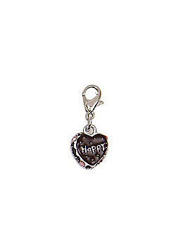 Happy Chocolate Cake Clip on Charm