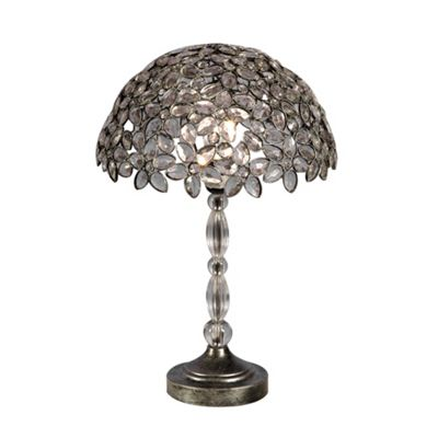 Antique Silver Table Lamp 13.4 x 20.2 inch