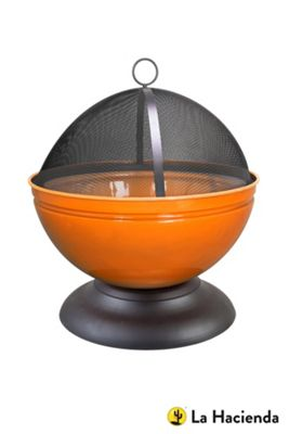 La Hacienda Orange Globe Firepit