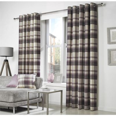 Curtina Belvedere Lined Plum Curtains   90x72 Inches