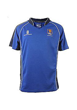 Surridge Macclesfield RUFC Rugby Union Adults Home Jersey Shirt - Blue