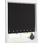 Hamilton Mcbride Aurora Square Eyelet Black Blind - 180x165cm