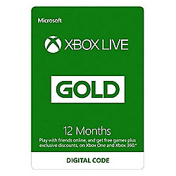 Xbox Live 12 month Sub Xbox One (Digital Download Code))