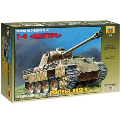 Zvezda 3678 Pz.Kpfv.V Panther Ausf D Tank 1:35 Military Model Kit