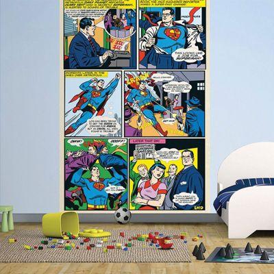 Superman Wall Mural 232cm x 158cm