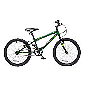"Concept Raptor 20"" Wheel Kids BMX Bike Single Speed Green"