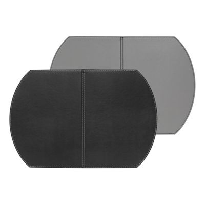 FreeForm Single Foldable Placemat, Black and Grey