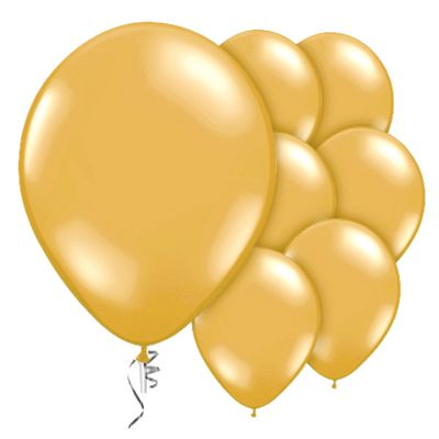 Gold Prolite Valved 9 inch Latex Balloons - 10 Pack