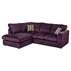 Taunton Left Hand Corner Sofa, Plum