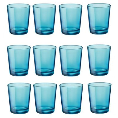 Bormioli Rocco Castore Coloured Glass Drinking Tumblers - Blue - 300ml - Pack of 12