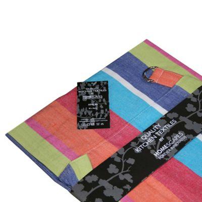 Homescapes Cotton Multi Stripe Apron