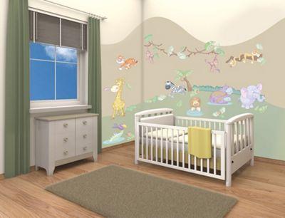Walltastic Baby Jungle Safari Room Decor Kit - 50 Stickers