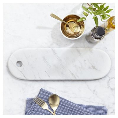 Fox & Ivy Marble Oval Serving Board