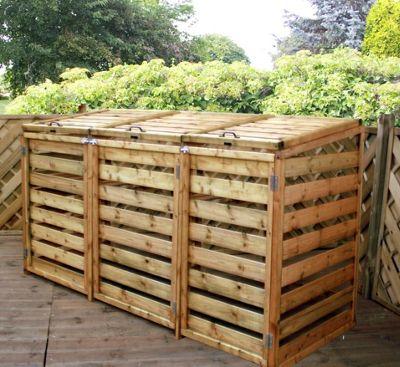Triple Wheelie Bin Store & Buy Triple Wheelie Bin Store from our Garden Storage range - Tesco