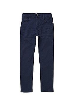F&F Twill Skinny Fit Trousers - Navy
