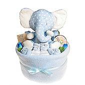 Baby Boy Nappy Cake Bouquet Arrangement