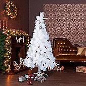 Homcom Christmas Tree Artificial Berry Snow Xmas with Metal Stand (7ft / 210cm)