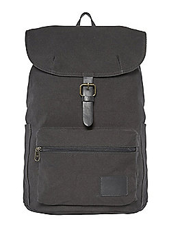 F&F Canvas Buckle Backpack - Charcoal Grey