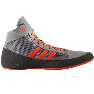 adidas Havoc Mens Adult Wrestling Trainer Shoe Boot Grey/Red - UK 10.5