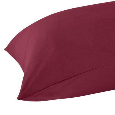 Homescapes Plum Plain Housewife Pillow Case 100% Egyptian Cotton Pillow Cover 200 TC