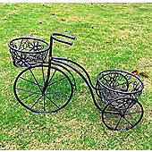 Bentley Garden Wrought Iron Penny Farthing Planter Black