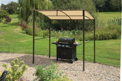 BBQ Gazebo with Sloping Roof