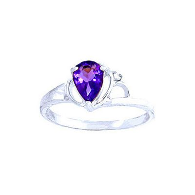 QP Jewellers Diamond & Amethyst Glow Ring in 14K White Gold - Size X