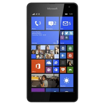 Tesco Mobile Microsoft Lumia 535 Black