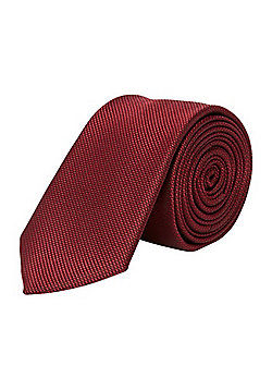 F&F Textured Slim Tie - Burgundy