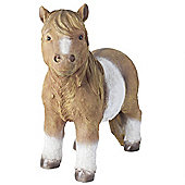 Large Realistic Shetland Pony Polyresin Horse Garden Statue Ornament