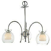 Pendant/Semi Ceiling 3 Light Clear Glass