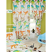 Dinosaur World Lined Curtains 54""