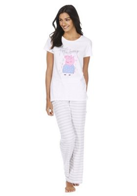 Peppa Pig Love Mummy Pyjamas White Multi 8-10