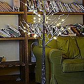 Kaemingk 1.8m Warm White LED Birch Tree - Brown